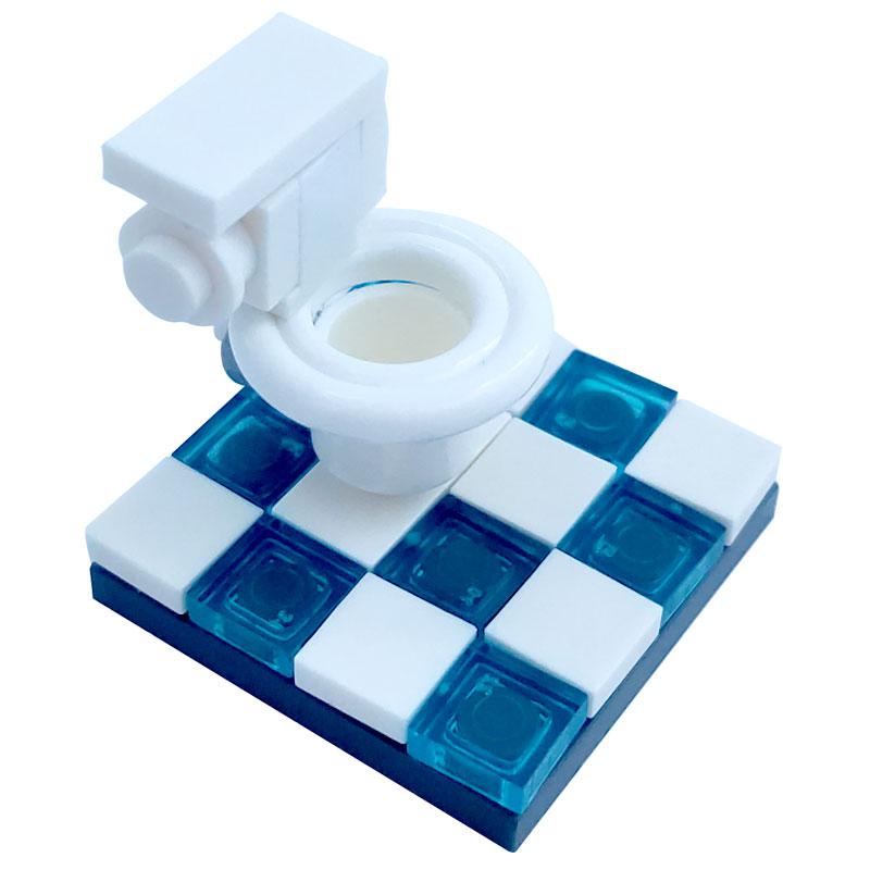 Creator City Toilet Model Home Furniture  Accessories Toys For Children Kids DIY Part Compatible MOC City Building Blocks Toilet