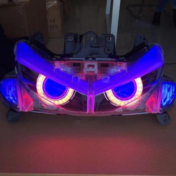 Modified Motorcycle aerox155 nvx155 headlamp headlight front HID lamp light with led eyebrow for yamaha NVX NVX155 DGR155 L155