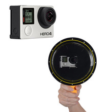 """Suptig 6 """"العام (60*43.2*42 مللي متر) مقاوم للماء قبة ميناء غطاء ل GoPro Hero4 3 + 3 SJ4000 جلسة Eken h9r عمل كاميرا الملحقات"""