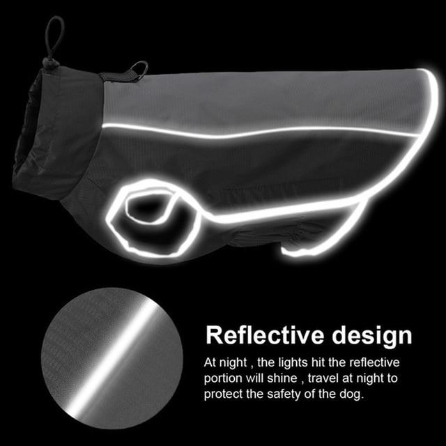 Pet Jacket Dog Clothes Coat Reflective Waterproof Jacket   2