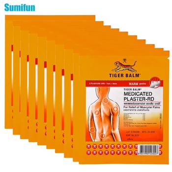Sumifun 20Pcs/10Bags Red Tiger Balm Neck Back Body Pain Relaxation Joints Pain Relief Patch D2272 10 20 30ml chinese herbal patches rheumatism joint oil neck back body relaxation pain killer body massage plaster tiger balm