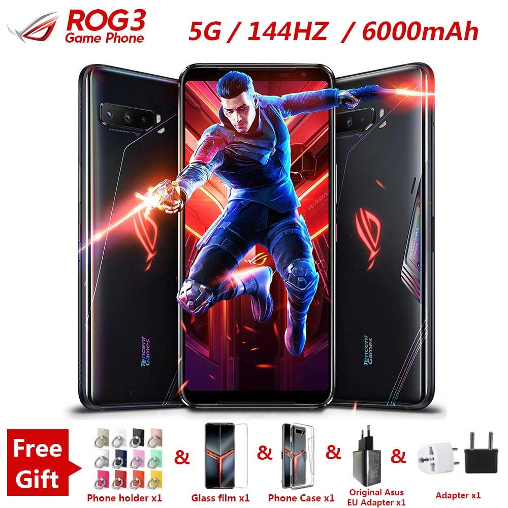 "New Asus ROG 3 5G Gaming Phone 6.59 ""12/16GB RAM 128/256G/512GB ROM Snapdragon 865/865 Plus 6000mAh 144HZ FHD+ AMOLED ROG3 Phone(China)"