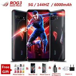 Nuevo Asus ROG 3 5G de teléfono 6,59 /12/16GB RAM 128/256G/512GB ROM Snapdragon 865/865 Plus de 6000mAh 144HZ FHD + AMOLED ROG3 teléfono