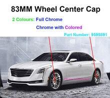 """4 قطعة 83 مللي متر 3.25 """"بوصة الكروم الملونة عجلة غطاء عجلة مركزي غطاء شعار شارة شعار جنوط عجلات لكاديلاك اسكاليد ESV EXT 9595891"""
