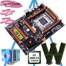 HUANANZHI デラックス X79 LGA2011 マザーボード M.2 NVMe スロット CPU Xeon E5 2690 C2 2.9 とクーラー RAM 32 グラム (4*8 グラム) REG ECC