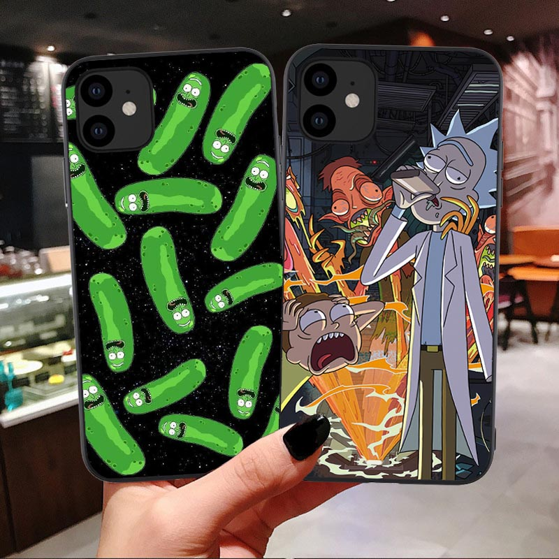 Rick And Morty Funny Cartoon Comic Meme Funny Quote Soft silicone TPU Phone Case For iPhone 11 Pro Max 6 6S 7 8 Plus X XS MAX XR image