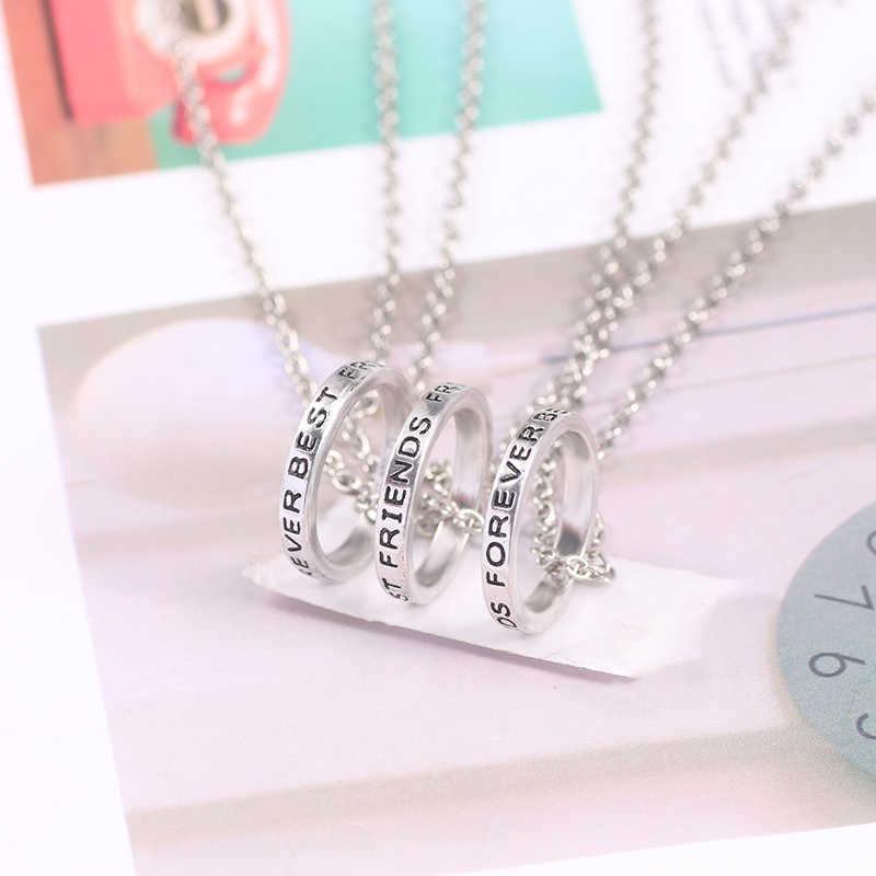 2 atau 3 Kalung Kepribadian Siswa Pacar Persahabatan Hitam Huruf Liontin Wanita Ulang Tahun Harian Hadiah Perhiasan