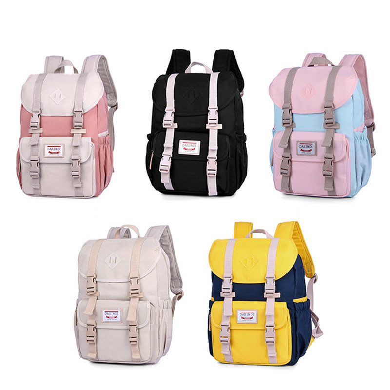 Высококачественный холщовый рюкзак для ноутбука, женский розовый рюкзак, школьный рюкзак для девочек-подростков, дорожный рюкзак, Mochila Feminina...