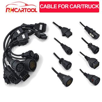 8 sztuk partia kable OBD2 dla samochodów narzędzie diagnostyczne dla ciężarówek przewód połączeniowy dla ciężarówek OBD 2 kable dla narzędzie diagnostyczne do samochodów tanie i dobre opinie VDIAGTOOL OBD connect cable Plastic Mechaniczne testerów 0 52kg Black cable for car truck fast 3 days 12 months