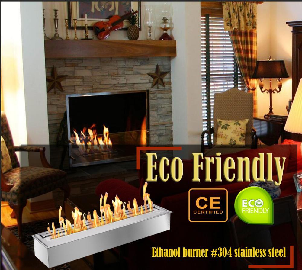 Inno Living Fire  48 Inch Biofuel Burner Insert Ethanol Chimney