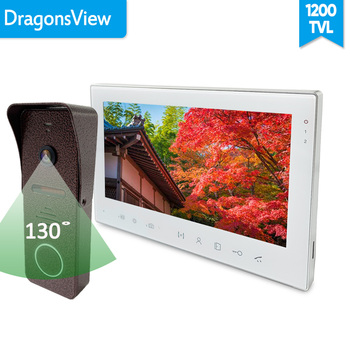 [زاوية واسعة] Dragonsview الجرس إنترفون فيديو باب الهاتف مع شاشة 7 بوصة سجل إفتح الأمن الرئيسية كيت التحكم في الوصول 1
