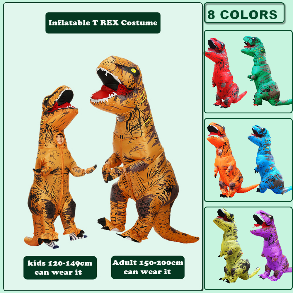 Hot T REX Dinosaur Inflatable Costume Party Cosplay Costumes Fancy Mascot Anime Halloween Costume For Adult Kids Dino Cartoon 2