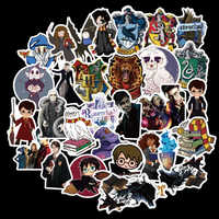 50pcs Pack Potter PVC Harry Stickers For Kids Luggage Skateboard Laptop Cartoon Movies Sticker For Children