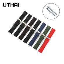 Uthai z40 pulseira de relógio esportes à prova d18 água silicone cinta 18mm 20mm 22mm 24mm pulseiras interruptor rápido barra mola