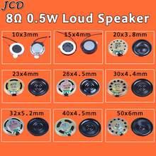 JCD 2 adet 8 ohm 0.5W boynuz hoparlör 10mm 15mm 20 23 26 30 32 40mm 50MM çap 8R 0.5W küçük hoparlör toptan elektronik