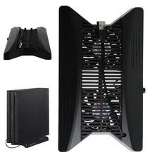 충전 스테이션 냉각 팬 ps4 pro 용 hub2.0 이 장착 된 환기 수직 스탠드