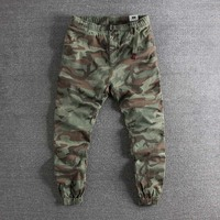 2019 new arrival European and American camouflage cotton Leggings men's casual trousers plus size high quality cheap sale pants