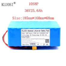 KLUOSI 36V 10S8P 25.6Ah 1200W High Power Capacity Li-ion Battery Pack for Electric Car Bicycle Motor Scooter 35A Balanced BMS kluosi 36v 10s7p 22 4ah 1200w high power capacity li ion battery pack for electric car bicycle motor scooter 35a balanced bms