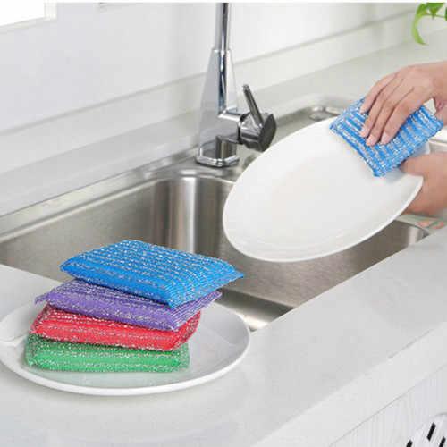 ¡Ayuda de ama de casa! 1 piezas esponja cepillo de baño de azulejos cepillo de lavado olla limpia cepillo accesorios de baño