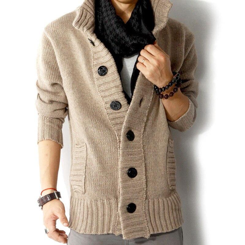Zogaa 2019 New Winter Men Sweater Bigger Button Cardin Coat Lycra Spandex Men Outwear Warm Autumn Men Jacket Casual Men Wear