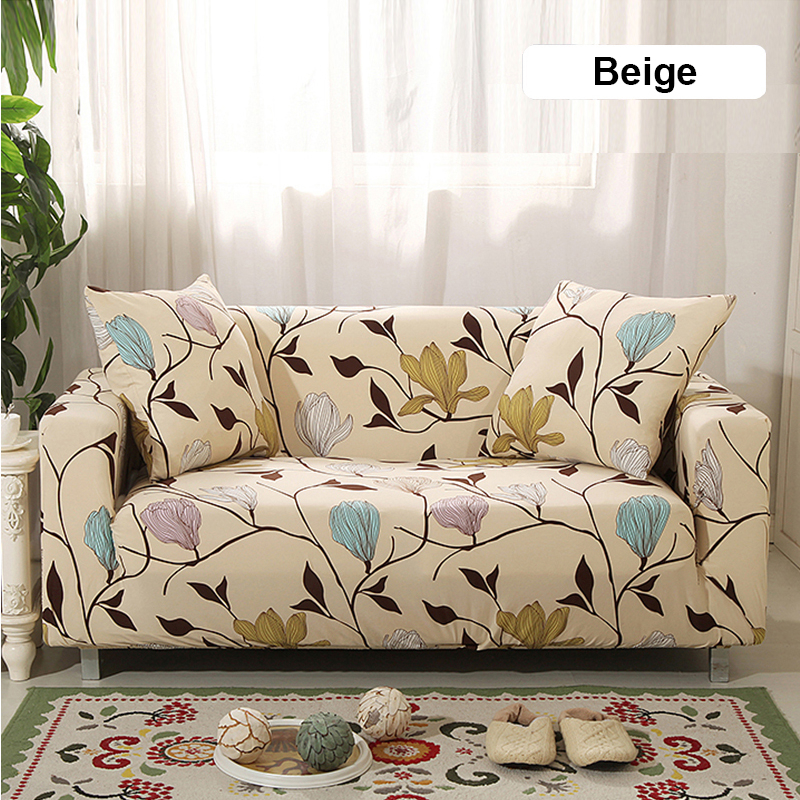 1/2/3/4 Seaters Elastic Stretch Sofa Cover for Living Room Morden Printed Floral Sectional Slipcovers Chair Couch Non-slip Cover 2