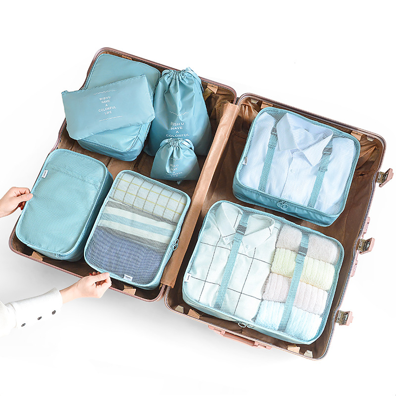 8pcs 6pcs Travel Home Clothes Quilt Blanket Storage Bag Set Shoes Partition Tidy Organizer Wardrobe Suitcase Pouch Packing Cube