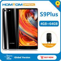 "Global version HOMTOM S9 Plus 18:9 HD+ 5.99"" Tri-bezelless Full Display Cell phone MTK6750T Octa Core 4G+64GB 4G LTE Smartphone"