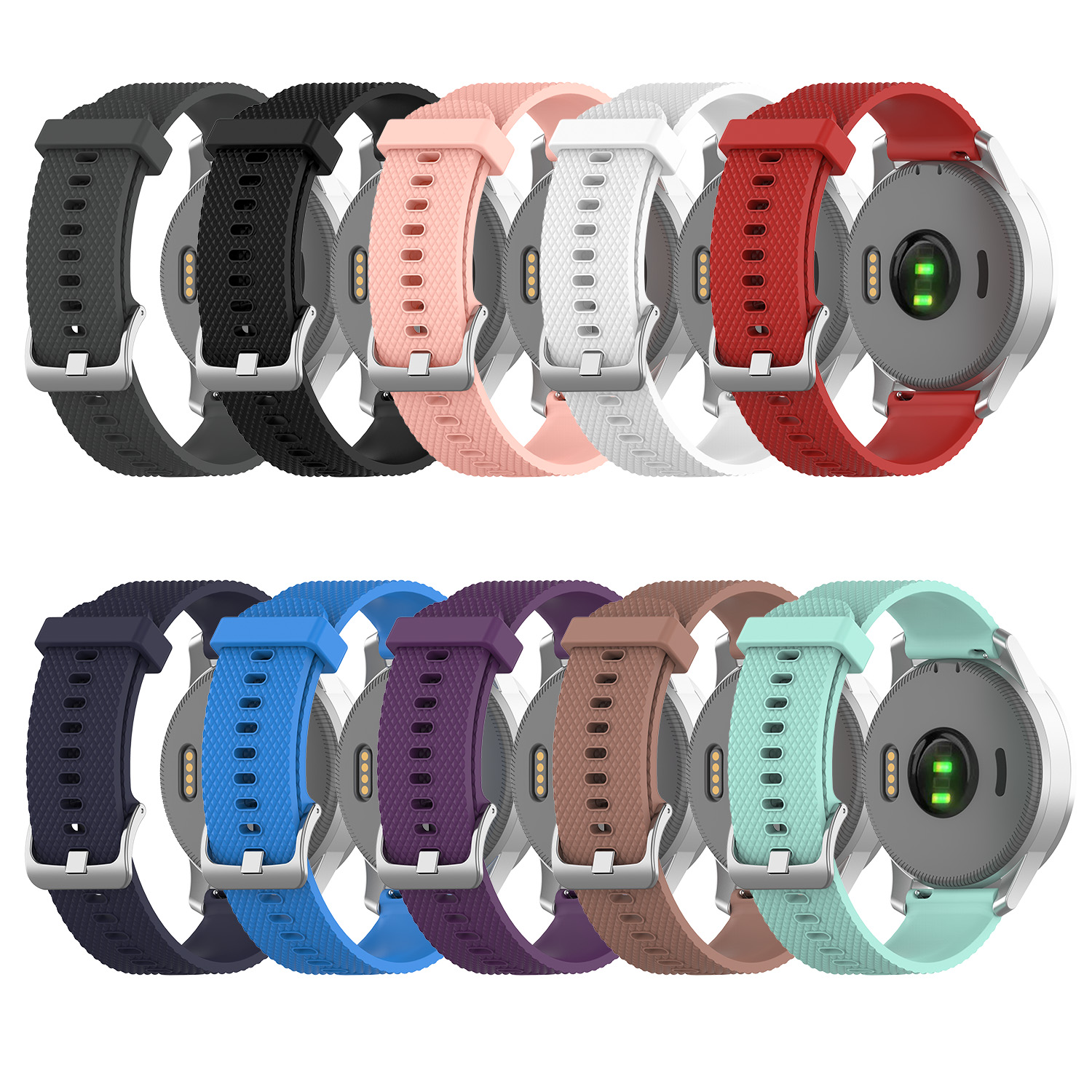 Applicable Garmin Vivoactive4S Texture Sports Silicone Strap Code 18MM Width