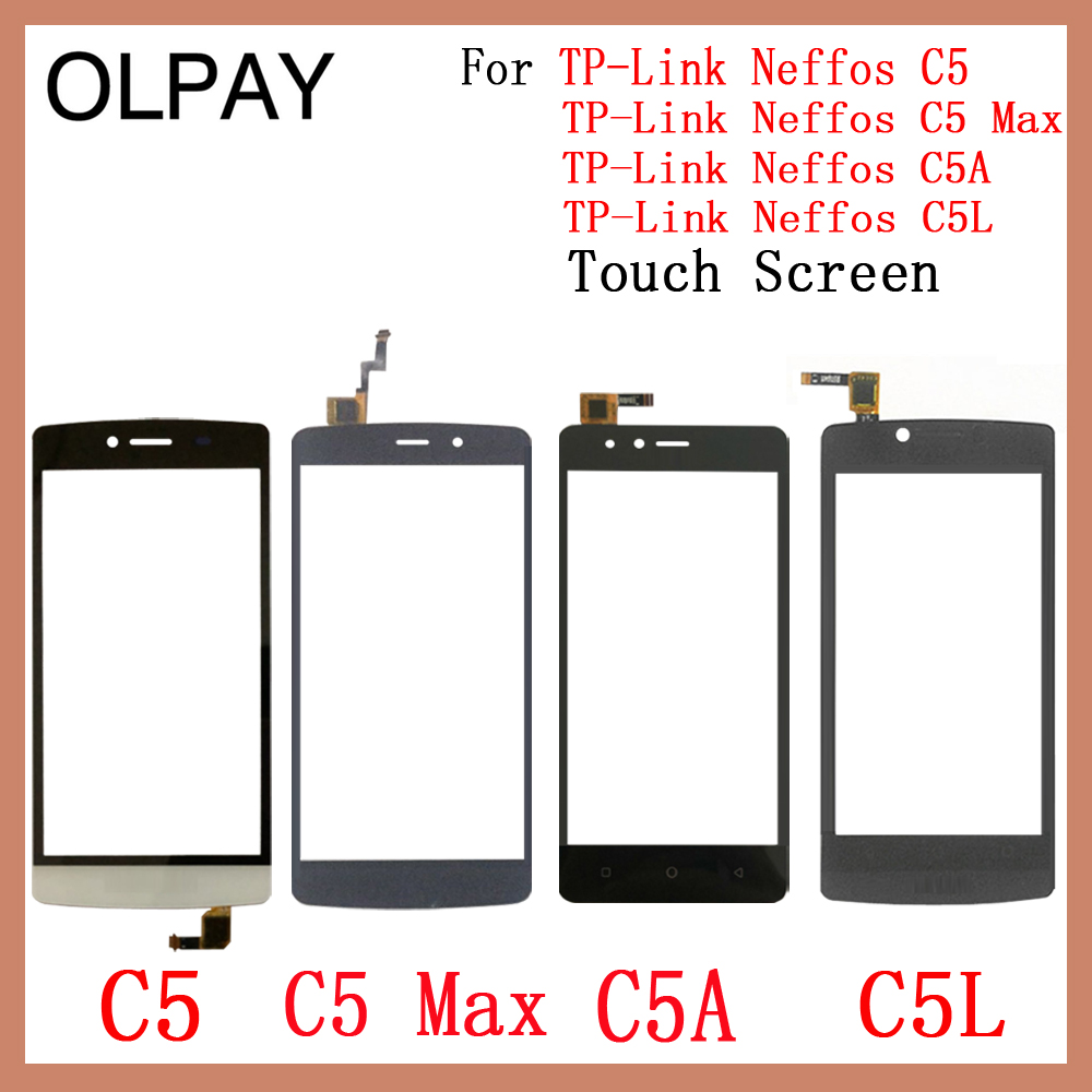 OLPAY Mobile Phone TouchScreen For TP-Link Neffos C5 C5A C5L C5 MAX Touch Screen Glass Digitizer Panel Lens Sensor Repair