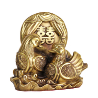 MOZART Pure Copper Double Happiness Mandarin Duck Money Mandarin Duck Crafts Ornaments Home Office