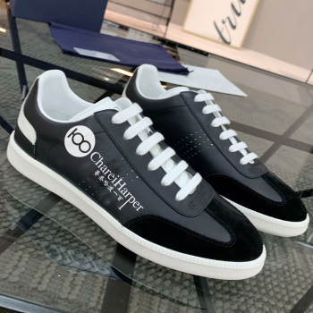 100 French original  logo men's shoes casual flat shoes genuine leather fashion counter packing box original sheet high quality