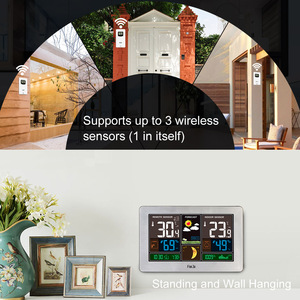 Image 4 - FanJu Temperature Humidity Wireless Sensor Indoor Outdoor Hygrometer Thermometer Wall Barometer Forecast Weather Station