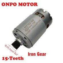 TSR1080 2 LI Motor de taladro de 15 dientes para taladro eléctrico BOSCH 3601JE2080, piezas de mantenimiento, 1607022628