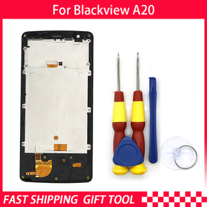 Image 2 - Original Touch Screen LCD Display For Blackview A20 Digitizer Assembly With Frame Replacement Parts+Disassemble Tool