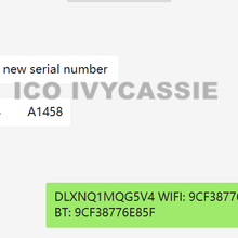A5/a5x/a6x sn + wifi + bt serial para ipad 2/3/4/mini1 desbloquear icloud serial n° mac-wifi bt endereço a1395 a1403 a1458 a1432 a1454 1416