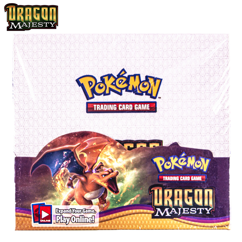 324Pcs Pokemon Cards TCG Dragon Majesty Booster Box Trading Card Battle Game Children Carte Toy image