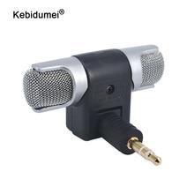 Kebidumei最新エレクトレットコンデンサーミニマイクステレオ音声マイク3.5ミリメートルのpcのためのユニバーサルコンピュータノートパソコンの電話