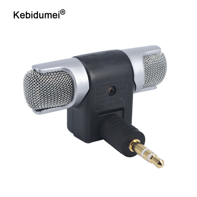 kebidumei NEWEST Electret Condenser Mini Microphone Stereo Voice MIC 3.5mm for PC for Universal Computer Laptop phone