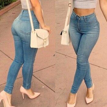Blue Ladies Jeans Women Denim Pants Fashion Casual Stretch Ladies Trousers Leggings Slacks Skinny Female Pencil Pants Jeans D30 цена 2017