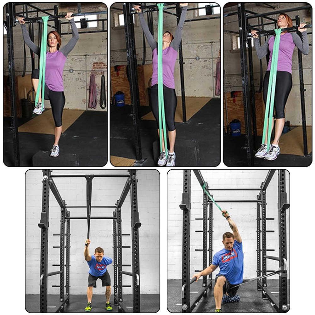 208cm Körperdehnung Übung Yoga Sport Resistance Band Fitness Fitnessgeräte
