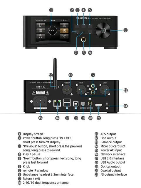 SMSL DP5 High Fidelity Network Music Player  4