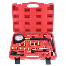 TU 114 0 140PSI / 0 10 Bar Portable Compression Fuel Injection Pressure Auto Car Diagnostic Tester Tools Kit with Safety Valve