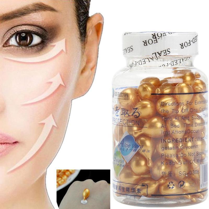 90pcs/bottle Vitamin E Extract Capsules Anti-wrinkle  Whitening Cream Ve Serum Facial Freckle Capsule