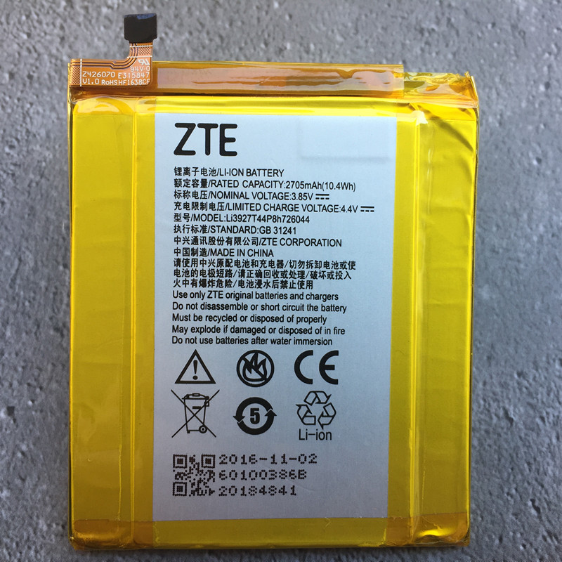 Battery for Li3927t44p8h726044 ZTE Original with Tracking-Number 2705mah Mini