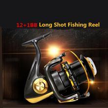 цена на 10000 Series 12+1 Ball Bearings 4.6:1 Spool Jigging Trolling Long Shot Casting Saltwater Surf Spinning Big Sea Fishing Reel