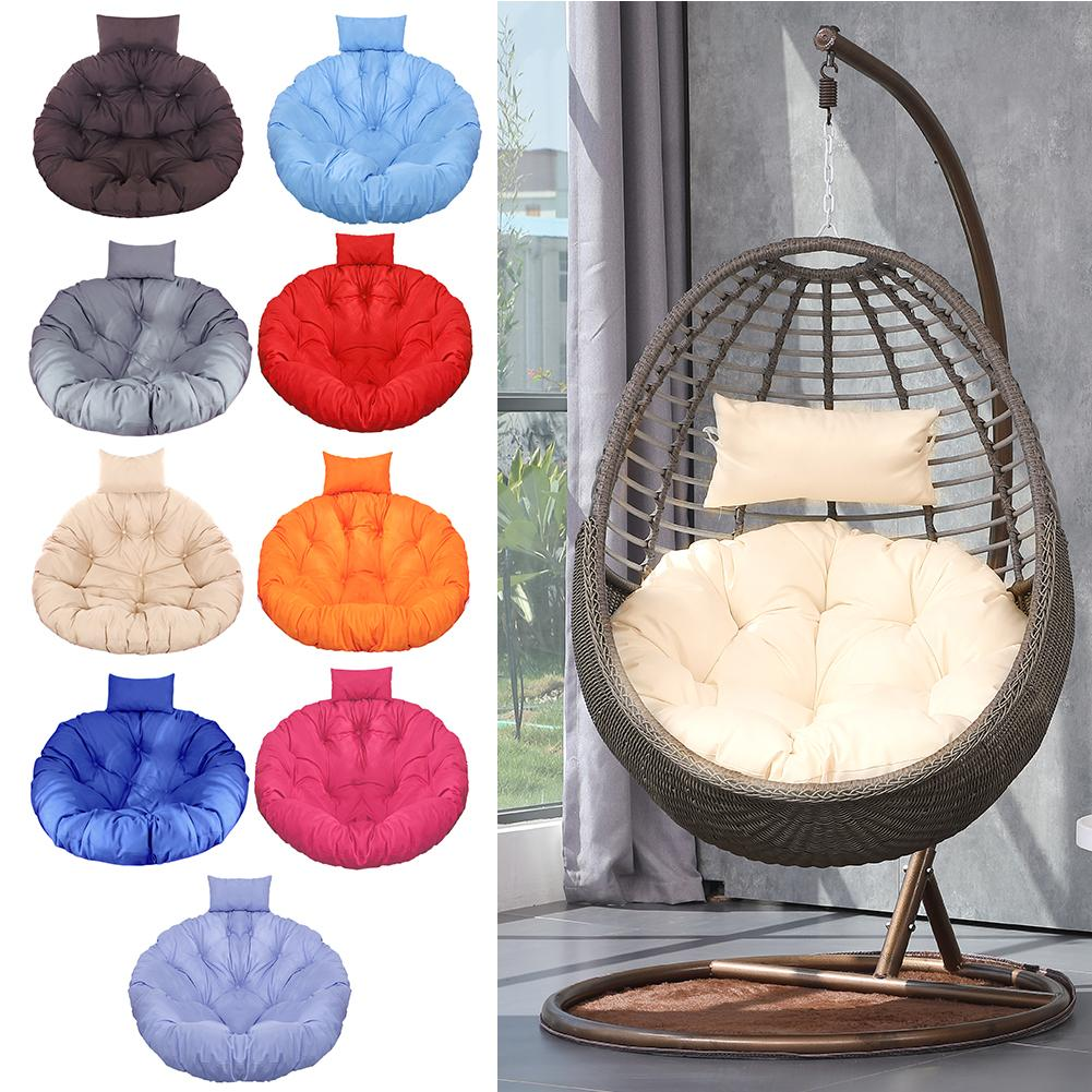 Round Chair Cushion Swing Seat Cushion Hanging Chair Pad Backrest Cushion Home Floor Cushion With pillow for Home Decoration