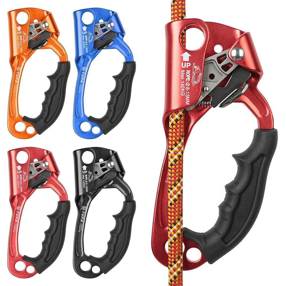 140kg Outdoor Hand Ascender Rock Climbing Ascender 8-12mm Vertical Rope Access Climbing Rescue Caving Climbing Rope Tools