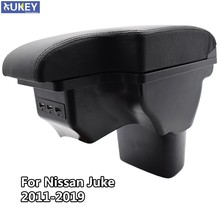 Accoudoir central en cuir noir pour Nissan Juke ESQ 2011 – 2019, nouvelle boîte de rangement USB pour Modification 2014 2015 2016
