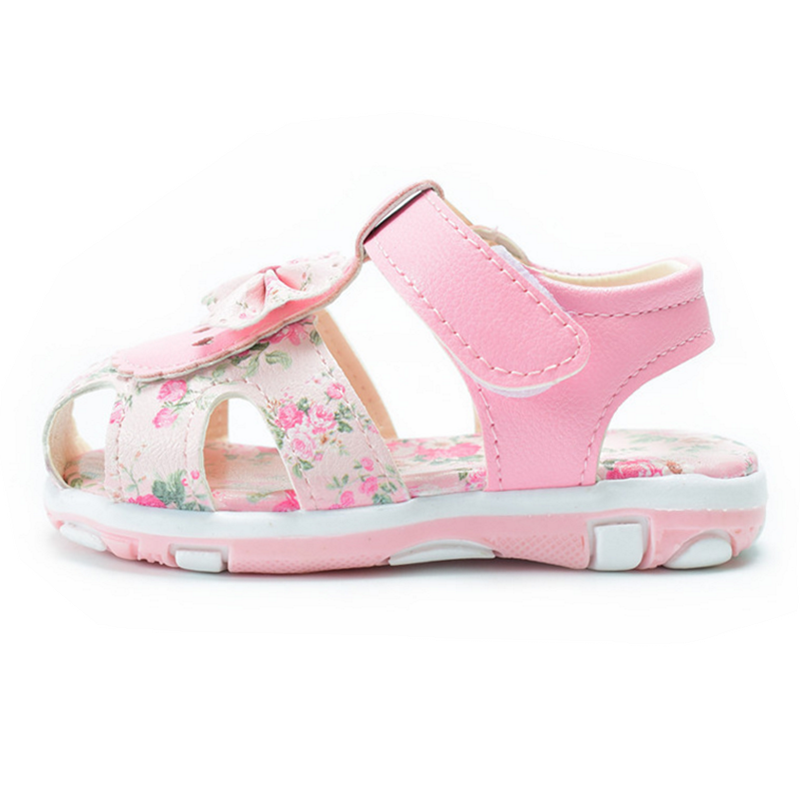 DIMI 2020 Baby Sandals Girls Baby Summer Shoes Non-slip Soft Bottom Girl Princess Shoes Bow Flowers Kids Sandals Toddler Shoes