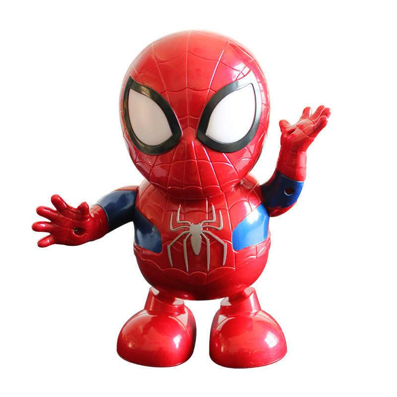1 шт. светодиодный музыкальный супер игрушки в виде героев танец Железный человек игрушка Tony светодиодный фонарик музыка Мстители 4 качели Marvel электронная игрушка в подарочной упаковке